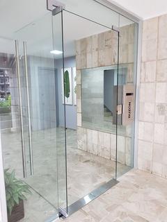 Puerta Vidrio Templado 10mm 91,4x213,4cminc.blindex Completa