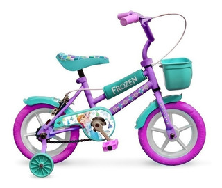 Bicicleta Frozen Rodado 12 Disney Cuadro De Acero Original!!