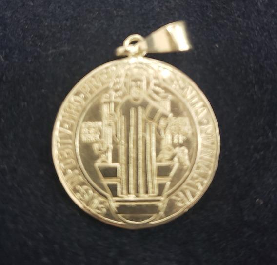 Medalla De San Benito Plata .925