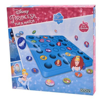Imagen 1 de 3 de Juego De Mesa Flip - Match Disney Princesas Ditoys