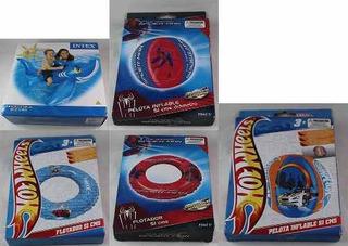 Oferta! Pack Inflables Piscina 5un Spider-man Hot Wheels Etc