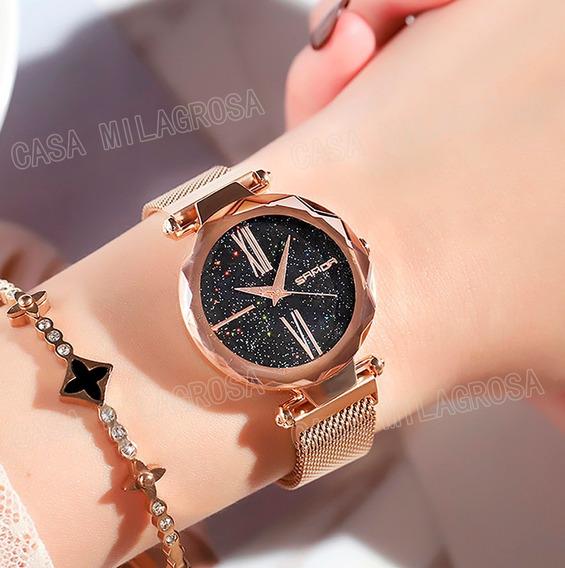 Relógio Importado Feminino Romano Luxo Casual Rosê