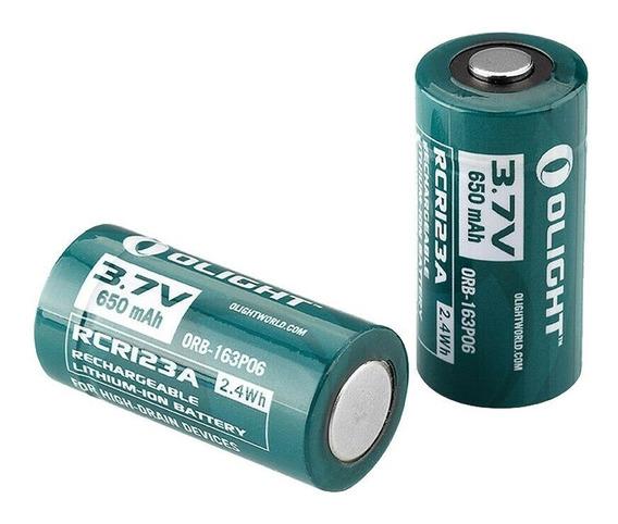 2x Baterias Olight Rcr123a 650mah Lithium-ion Recarregável