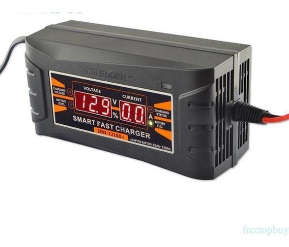 Carregador De Bateria Inteligente Carro/moto Bivolt 12v/6ah