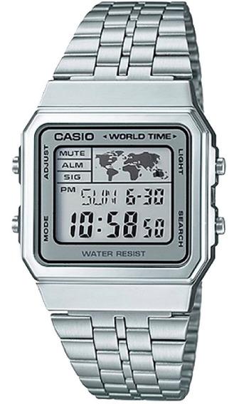 Relógio Casio - A500wa-7df - Vintage - Horário Mundial