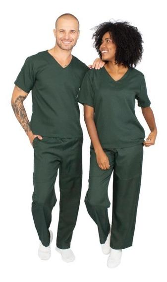 Pijama Cirúrgico Oxford Unissex Basico