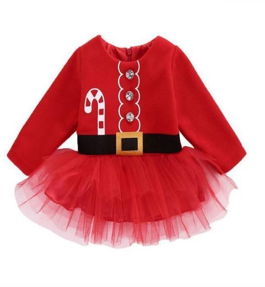 Mameluco Tutu Santa Claus Navidad Navideño Niña Bebe