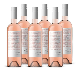 Vino Punto Final Malbec Rose 6 Botellas