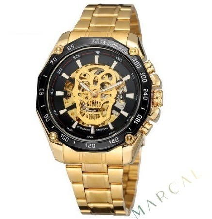 O Verdadeiro Relógio Mecânico De Luxo Skull 100% Original