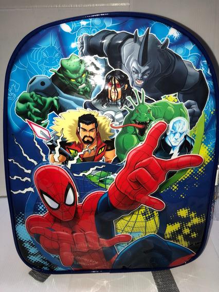 Mochila 12 Espalda Spiderman Jardin Duendesyprincesas