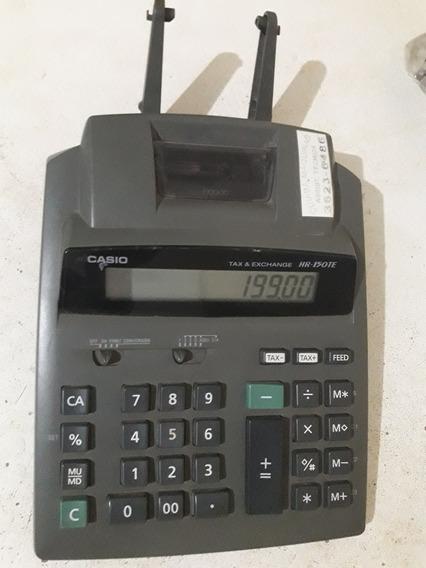 Calculadora Casio Hr 150-te A Pilhas E Fonte Funcionando