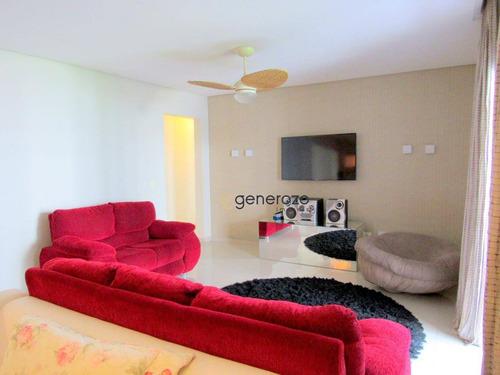 Apartamento Na Praia De Pitangueiras, 04 Dormitórios, 02 Vagas De Garagem - Ap0419