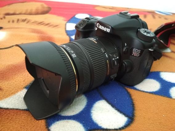 Canon 70d + Lente Sigma 17x50mm 2.8f