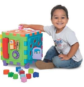 Brinquedo Educativo Cubo Didático Grande 29x29 Cm +1 Ano