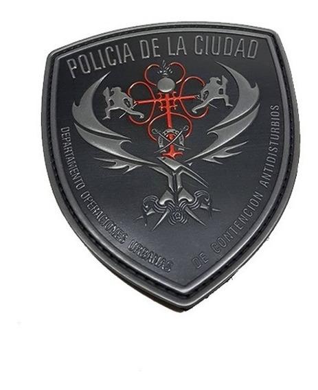 Escudo De Goma Pvc Policia De La Ciudad Operaciones Federale