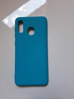 Capa Capinha Case Samsung A20/ A30 Aveludada Azul