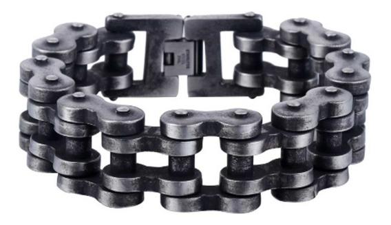 Bracelete Aço Corrente De Moto Grossa Pesada Pulseira Enorme