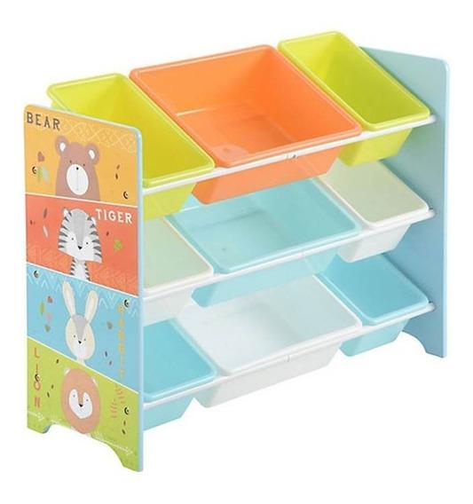 Juguetero Infantil Organizador Mueble 9 Recipientes Niñas