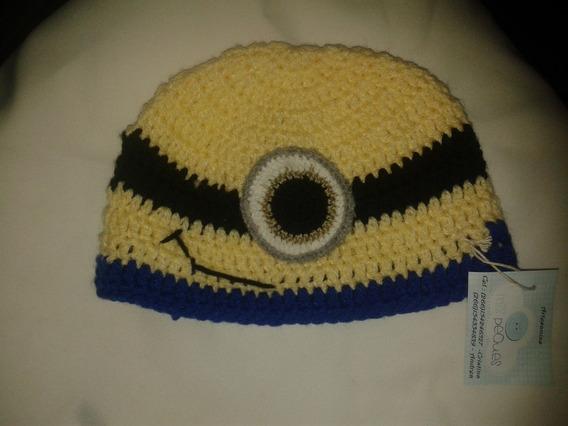 Gorro Tejido A Mano Crochet Minion