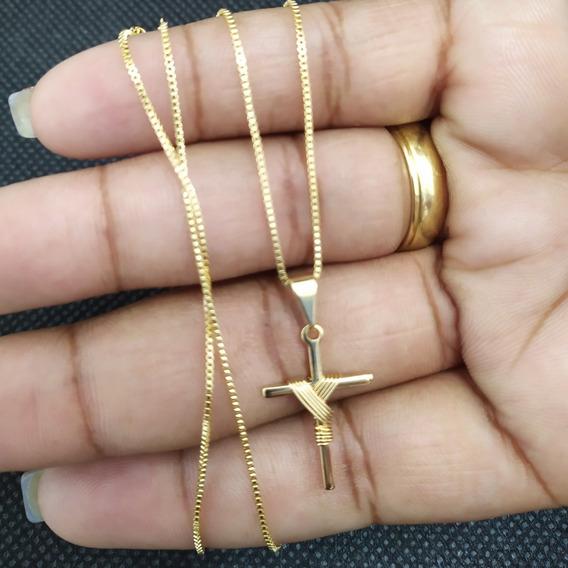 Promoçao Cordao Feminino Com Pingente Crucifixo Ref. Rm12