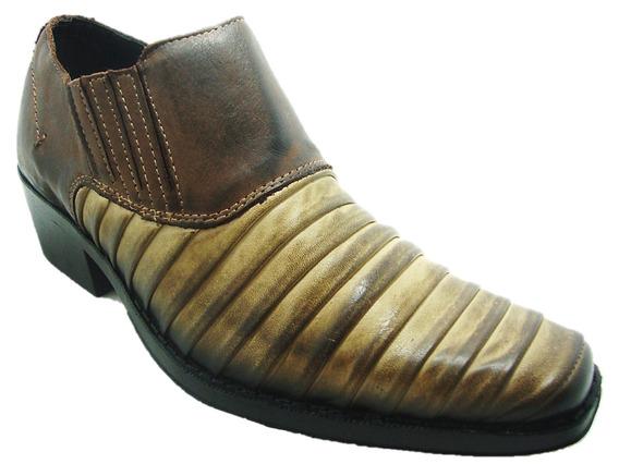 Sapato Masculino Perlatto 2008 Style Couro Latego Country