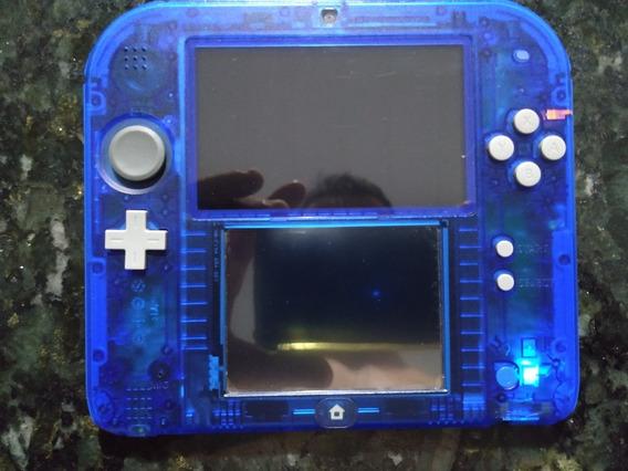 Nintendo 2ds Edição Pokémon Azul Transparente, Desbloqueado