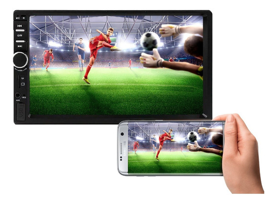 Multimídia Mp5 Universal 7 Hd Bluetooth Usb C/espelhamento