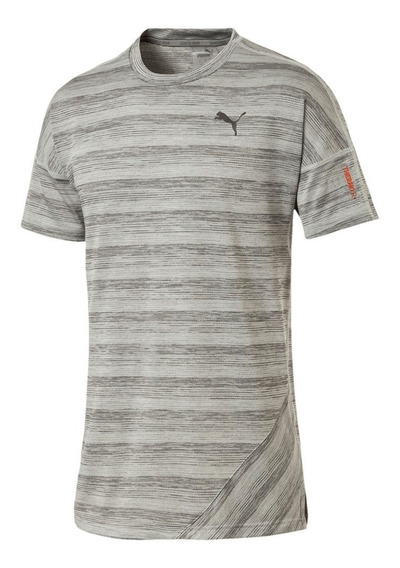 Puma Remera Running Hombre Pace S/s Gris