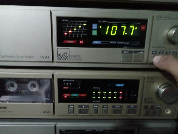 Gradiente Ds20 Receiver E Tape Deck Funciona Tudo Perfeito