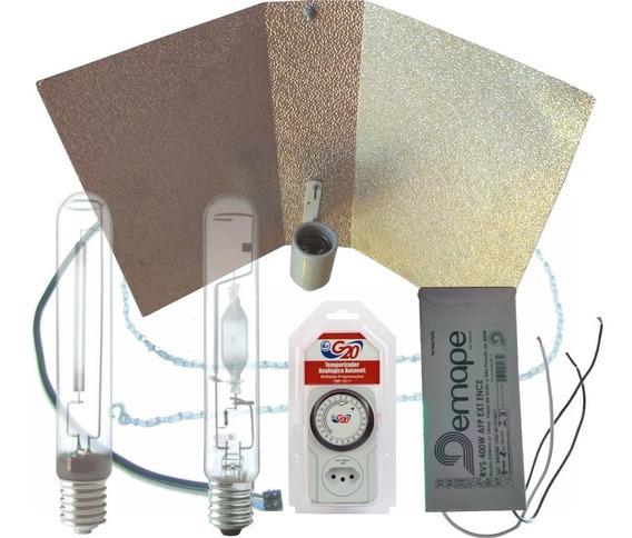 Kit Iluminação Indoor Vega E Flora Home Demape 400w + Timer