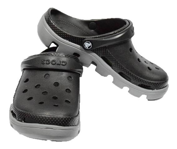 Crocs Duet Sport Clog Negro Con Gris