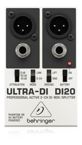 Direct Box Ativo 2 Canais Behringer Di20 Ultra-di