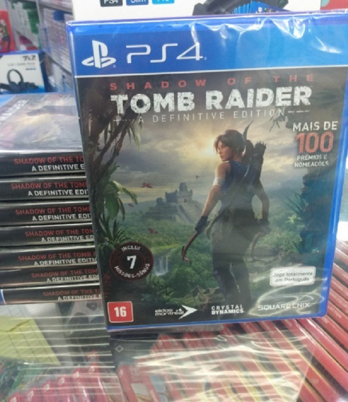 Shadow Of The Tomb Raider Ps4 Mídia Física Lacrado Novo