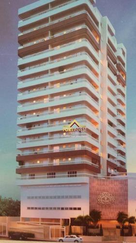 Apartamento Com 1 Dormitório À Venda, 65 M² Por R$ 350.000,00 - Vila Guilhermina - Praia Grande/sp - Ap0177