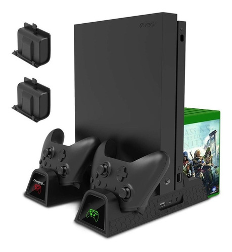 Imagen 1 de 10 de Base Vertical Enfriadora Cargador Controles Xbox One S X