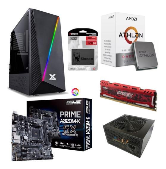 Pc Pyxis Athlon 200ge A320m K Bl 8gb Bc350 Ssd 120gb