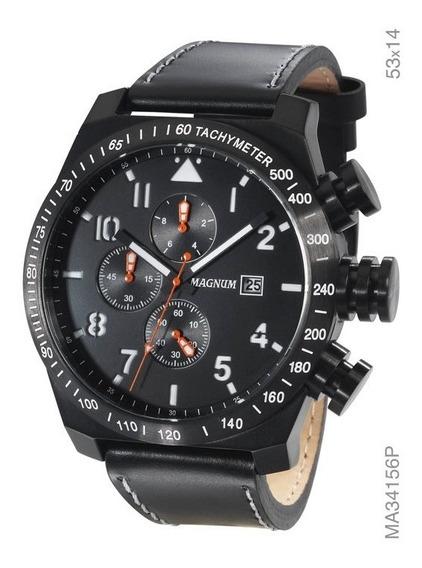 Relógio Magnum Masculino Cronógrafo Preto Ma34156p