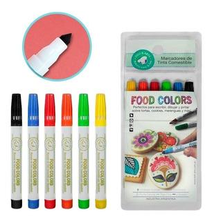 Marcadores De Tinta Comestibles X 6 Unidades Deli & Arts