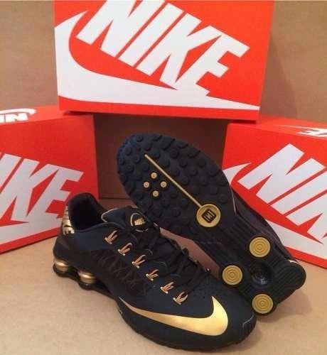 Tenis Nike Shox Superfly Preto E Dourado Nº38 Original!!!