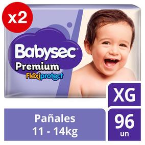 Pañal De Bebe Babysec Premium Pack X2 Talla Xg Tienda Ofic