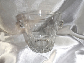 Elegante,lindo Balde De Gelo Cristal Val Saint Lambert,déc80