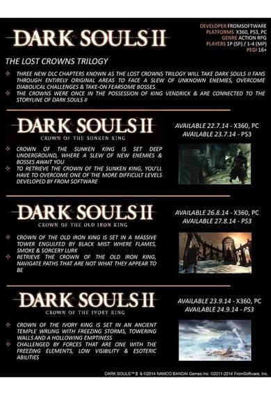 Pack 3 Dlcs De Dark Souls 2 - 03 Expansões - Instale Já