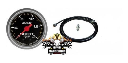 Manômetro Boost Evolution Odg + Kit Instalação Pressão Turbo