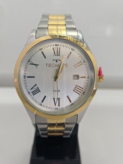 Relógio Technos Masculino Cor Dourada E Prata (2115mgn/5k)