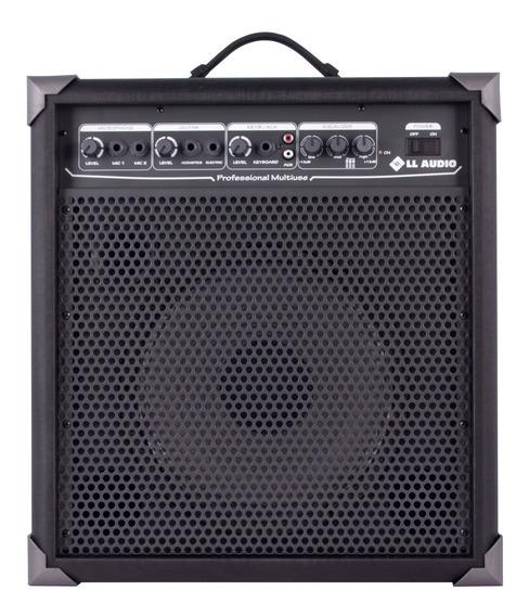 Caixa Amplificada Lx100 Mic Guitar Violão + 2 Cabos P10 5m