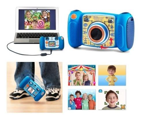 Camara Fotografica Para Niños Azul Vtech Kidizoom Xtr P