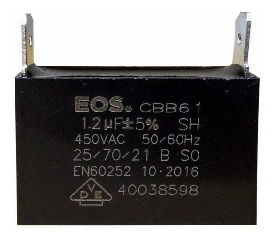 Capacitor 1,2uf 450vac Ar Cond. E Uso Geral Kit C/ 100 Peças