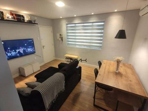 Apartamento Com 2 Dormitórios À Venda, 63 M²  - Marapé - Santos/sp - Ap2126
