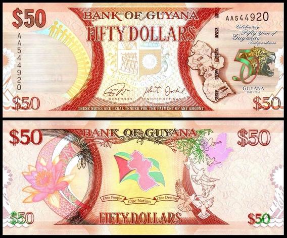Guyana Guiana P-41 Fe 50 Dollars 2016 Comemorativa * C O L*