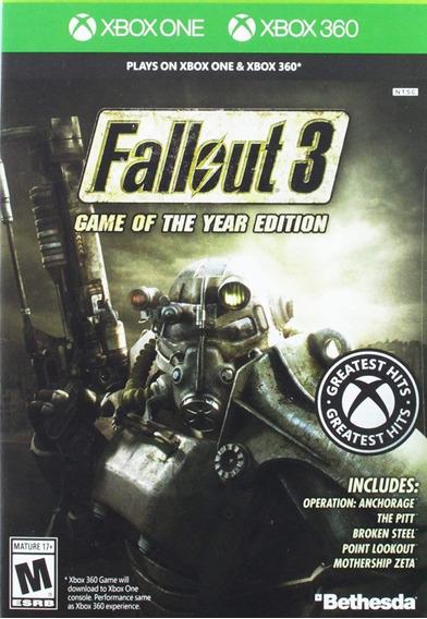 Fallout 3 Midia Digital Transferencia De Licença Xbox 360